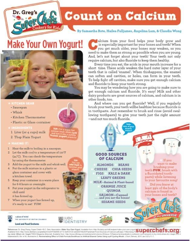 Count on Calcium | Resources | Childhood Obesity Information