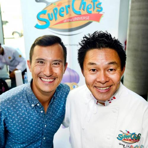 Olympian Patrick Chan and Surrey dentist Dr. Greg Chang at the SuperChefs 10th Anniversary event at Surrey City Hall on Friday, Aug. 17. (Photo: Ryan McLeod/contributor)
